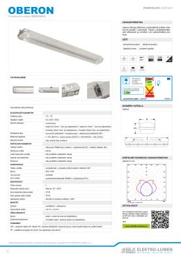 Svítidlo OBERON produktový list CZ.pdf - ELEKTRO