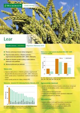 Výnos zrna Agronomické vlastnosti Zdravotní