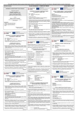 ní oznámení o vyhlášení výběrového řízení na stavební práce v