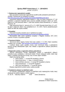 Zprávy RSST KH 1