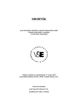 sborník - Fakulta informatiky a statistiky