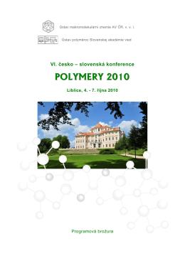 Sborník konference v PDF - Institute of Macromolecular Chemistry