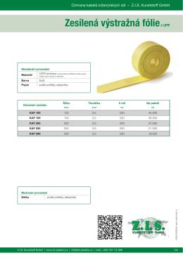 Zesílená výstražná fóliez LDPE