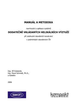 manuál, *.pdf - Helikální výztuže