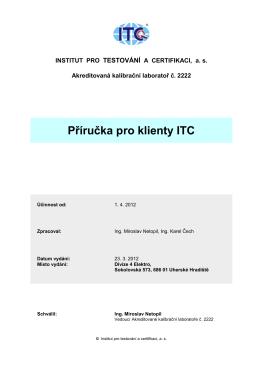 Příručka pro klienty ITC