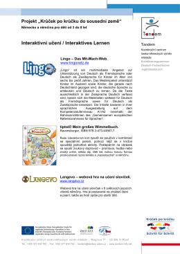 Interaktivní učení / / Interaktives Lernen