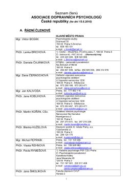 Seznam členů - Psychoservice.eu