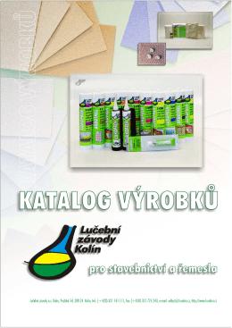 Katalog výrobků - Lučební závody a.s. Kolín