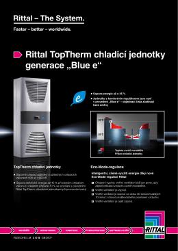 """Rittal TopTherm chladicí jednotky generace """"Blue e"""""""