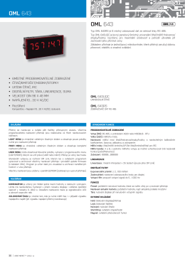 Panelové měřicí přístroje