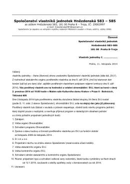 Společenství vlastníků jednotek Hnězdenská 583 – 585