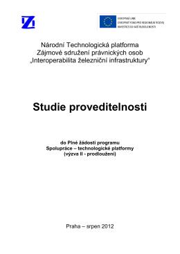 Studie proveditelnosti - Interoperabilita železniční infrastruktury