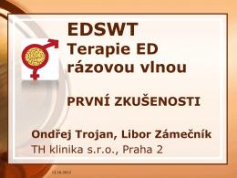 EDSWT Terapie ED rázovou vlnou