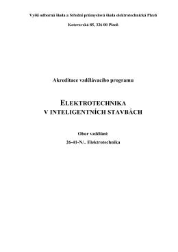Elektrotechnika v inteligentních stavbách
