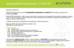 """Kartografické reprezentace v ArcGIS 10"""