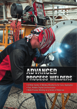 Equipment Catalogue – Advanced Process Welders