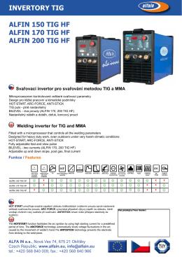 prospekt ALFIN 150_170_200 TIG HF - Svářečky