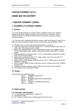 800-783 | Nátěry - Cenová soustava RTS DATA