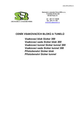 Ceník SFB - Vsakovací bloky - SFB
