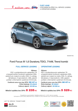 Ford Focus - ALD Automotive Operational Leasing Solutions