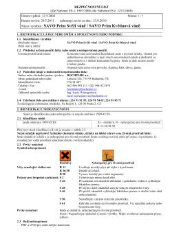 MSDS-Savo Prim s vůní N _5-2011_