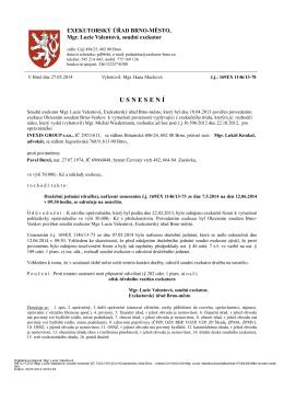 U S N E S E N Í - Exekutorský úřad Brno