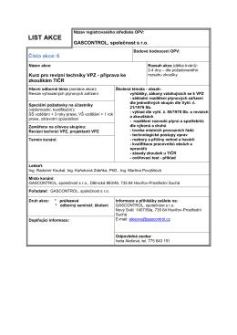 Odborná příprava ke zkoušce TIČR - revize, zkoušky PZ
