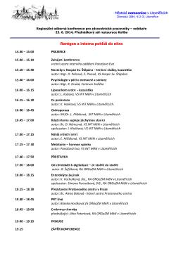 Konference pro ZP - nelékaře, ČERVEN 2014