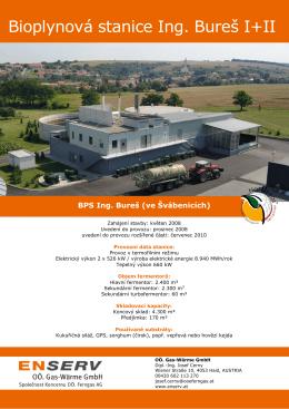 Bioplynová stanice Ing. Bureš I+II - ENSERV - OÖ Gas