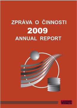 Zpráva o činnosti v roce 2009 ( 6MB)