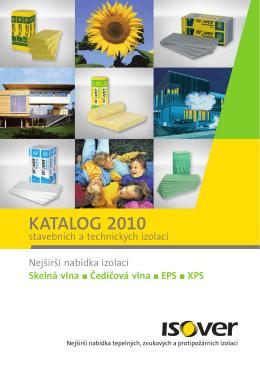Katalog 2010 stavebních a technických izolací