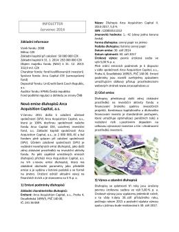 INFOLETTER červenec 2014 Nová emise