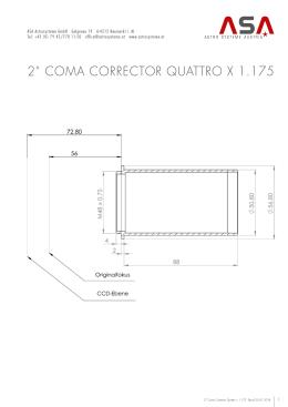 """2"""" Coma CorrECTor QuaTTro x 1.175"""