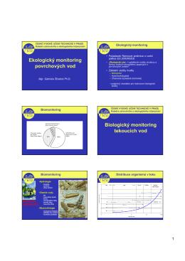 Biologický monitoring - Katedra zdravotního a ekologického