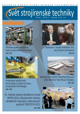 Svět strojírenské techniky číslo 1/2011 (PDF, 2.31 MB)