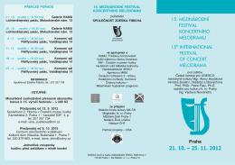 15. MEZINÁRODNÍ FESTIVAL KONCERTNÍHO MELODRAMU 15th