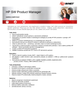 HP SW Product Manager - Avnet Technology Solutions