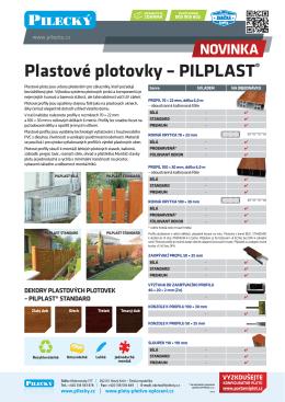 Plastové plotovky – PILPLAST®