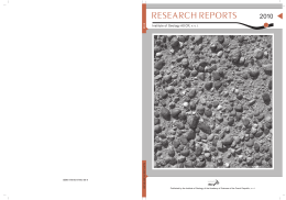 research reports - Institute of Geology AS CR, vvi