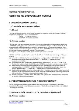 800-763 | Dřevostavby - Cenová soustava RTS DATA