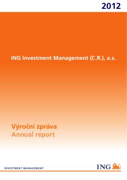 Výroční zpráva Annual report
