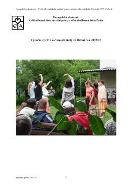 Výroční zpráva 2013 - Evangelická akademie