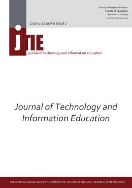 Celé vydání - obsah - JTIE - Univerzita Palackého v Olomouci