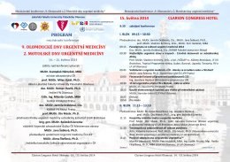 """5. ročník konference """"Olomoucké dny urgentní medicíny"""""""