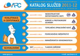 KATALOG SLUŽEB 2011-12 - APC - certifikační sdružení pro personál