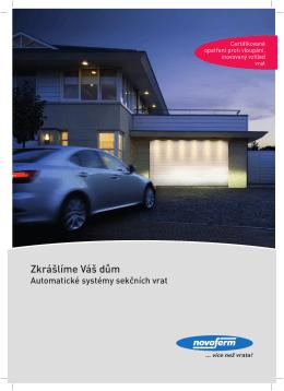 Sekční garážová vrata, automatické systémy sekčních vrat