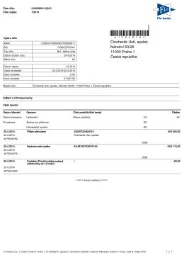 Výpis z účtu