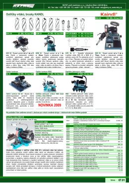 Katalog 07-Ostřičky nástrojů KAINDL