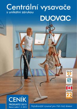 Ceník - Centrální vysavače DuoVac