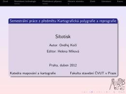 Prezentace práce (pdf) - Cvut